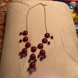 Burgundy/Goldtone Statement Necklace